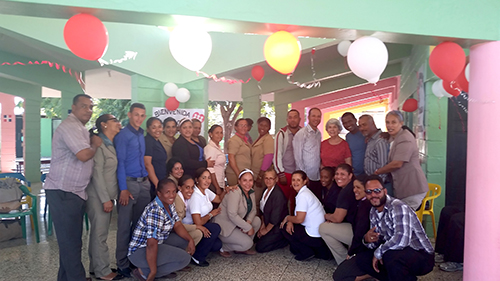 Sister Maurine Barzantni OP with faculty members of Centro Espiritu Santo