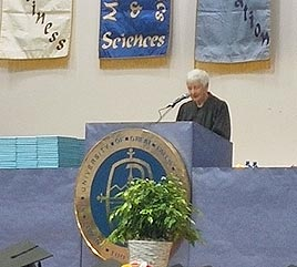 Sister Carol Coston Addresses Graduates, Receives Award from University of Great Falls
