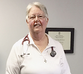 Sister Sharon Spanbauer, OP, Serves College Students as Nurse Practitioner