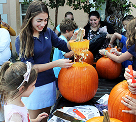 No Guts, No Glory: Rosarian Hosts Annual Pumpkin Carving Event at The Lord's Place