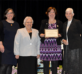 Regina Dominican Bestows Veritas Award on Assistant Principal