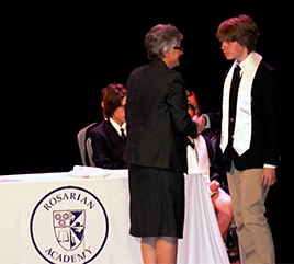 Rosarian Academy Inducts 14 Honor Society Members
