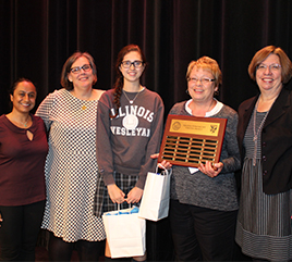 Regina Dominican High School Bestows Veritas Award on Administrator and Student