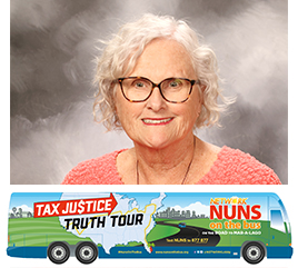Sister Durstyne Farnan, OP, Shares Blog about Traveling with Nuns on the Bus