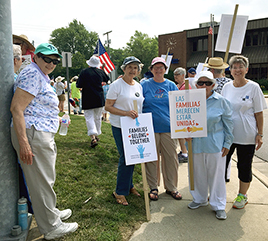 Adrian Dominican Sisters March for Immigrant Families