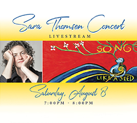 Weber Center Offers Live Streamed Concert by Singer and Song Writer Sara Thomsen