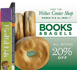 Weber Center Shop Specials Include Books and Free Bagels