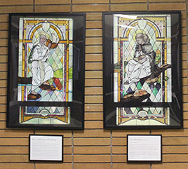 Replicas of Stained Glass Windows Remind Regina Dominican Students of Heritage